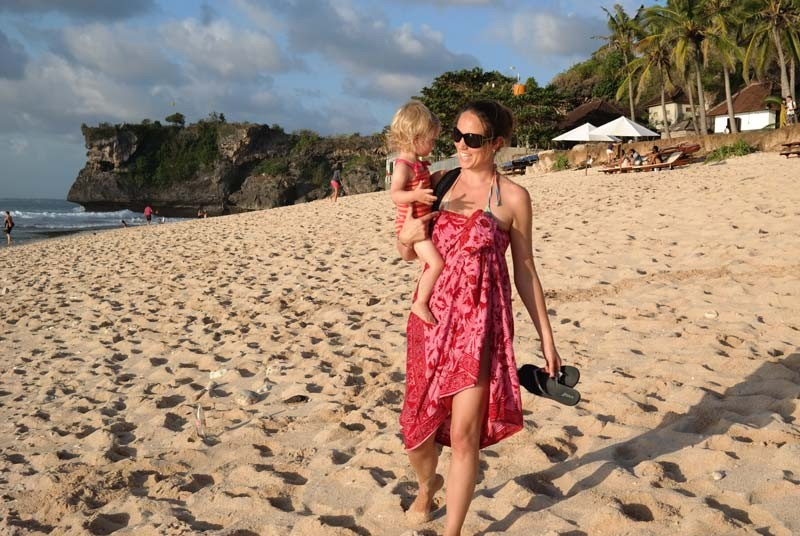 Vakantie Bali met kinderen - strand