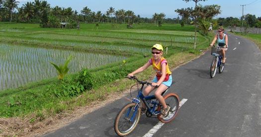 Fietsen tijdens je reis Bali