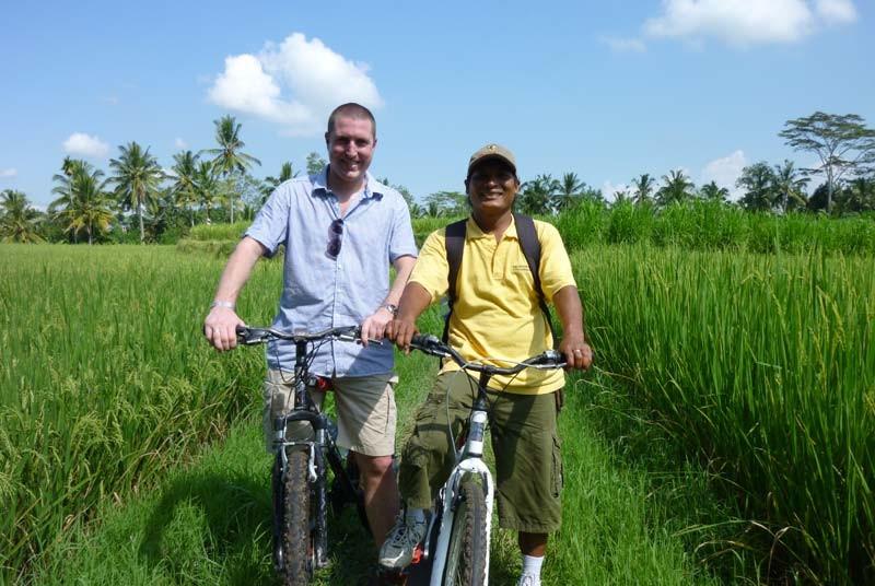 Fietsen rijstvelden - gezinsvakantie Bali