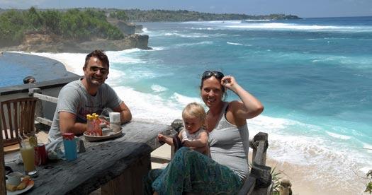 Eten aan het strand - Bali reis