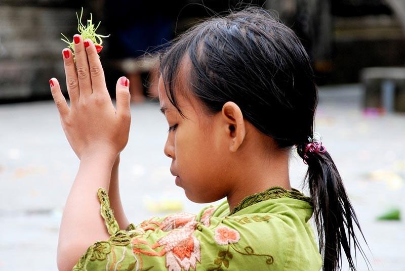 Vakantie Bali met kinderen - gebed