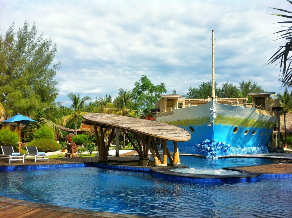Indonesië Gili eilanden Trawagan - special stay zwembad