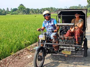 Indonesie rondreis - Medan becak tour