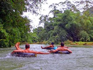 Tangkahan met kinderen - Sumatra tuben