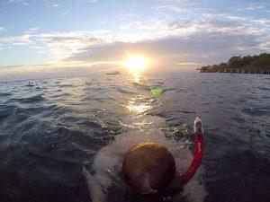 Snorkelen na het kamperen