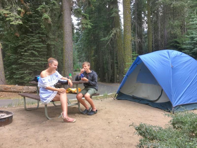 Sequoia Nationaal park- tentje
