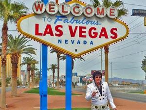Las Vegas met kinderen Amerika - Elvis