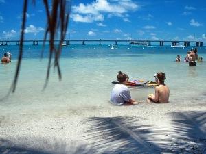 Florida met kinderen - strand Upper Keys