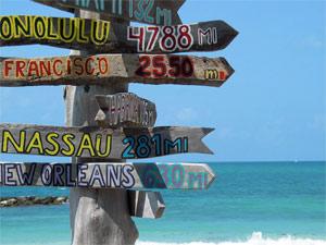 Florida met kinderen - Keywest landmarkt Amerika