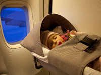 kids bassinet vlucht amerika