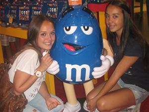 Verenigde Staten familierondreis - M&M store Las Vegas