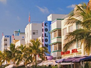Miami met kinderen Amerika - Artdeco
