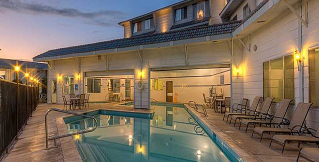 Amerika kids - zwembad motel Moab