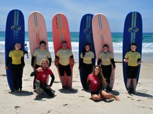 Surfen in San Diego - Amerika met tieners