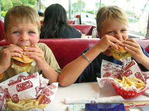amerika kinderen hamburger