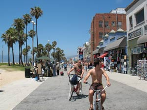 Los Angeles Venice Beach - fietsen Santa Monica Amerika