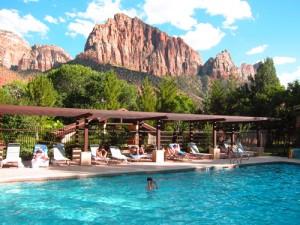 Vakantie Amerika Kids - Zion NP zwembad