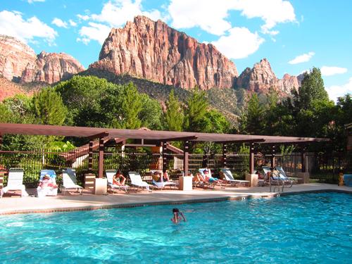 Vakantie Amerika - Zion NP zwembad