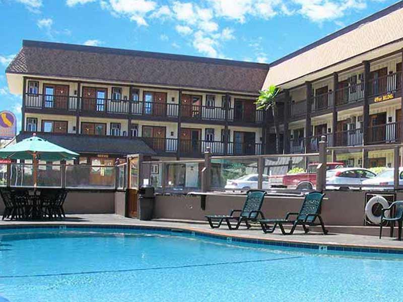 Yosemite gezinsreis - Senora motel zwembad