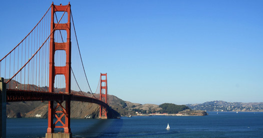 Golden Gate bridge reis Amerika