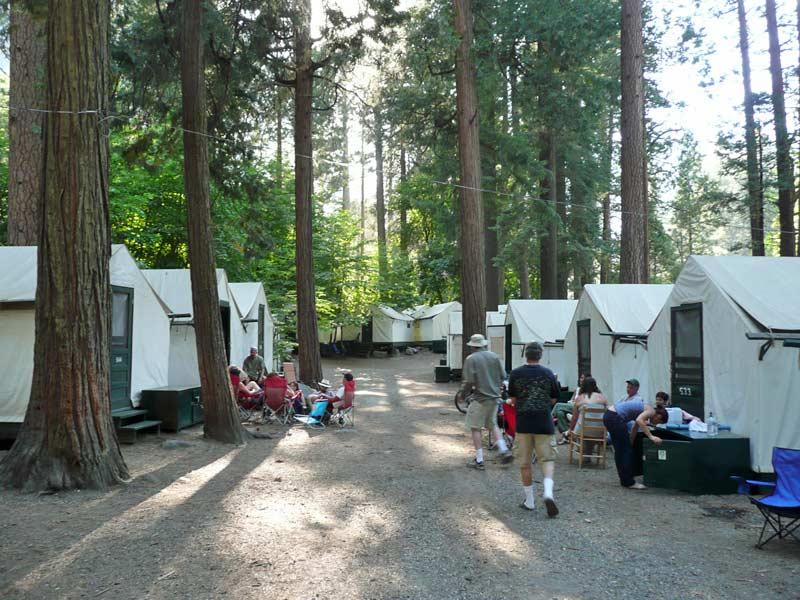 Tenten Yosemite NP reis Amerika