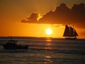 AmerikaKids - Florida rondreis zondsondergang