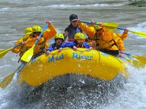 Teton National Park Amerika - raften met kids