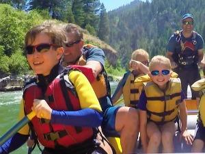 AmerikaKids - raften Teton National Park