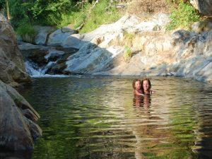 zwemmen bij de camping