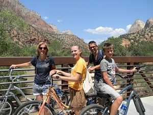 Amerika-familiereis-fietsen-Zion