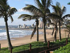 Zandstranden van Durban, je gaat surfen in Zuid- Afrika
