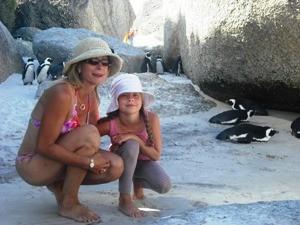 familie-rondreis-zuid-afrika-kaapstad-strand-penguins