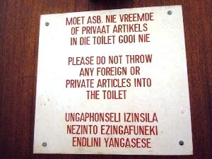 gezondheid zuid afrika toilet