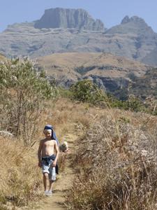 Tijdens je Zuid-Afrika familiereis wandelen door de Drakensbergen
