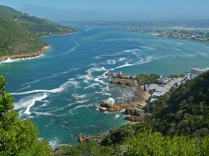 Knysna Zuid-Afrika met kids uitzicht