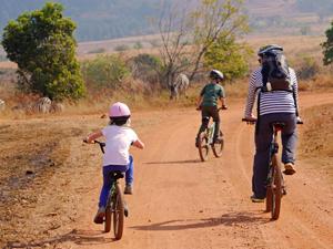 In Swaziland ga je mountainbiken met je kinderen