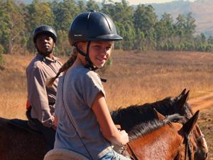 paardrijden in Zuid-Afrika kan in Swaziland