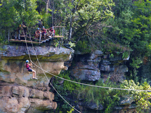 Canopy tour in het Tsitsikamma National Park