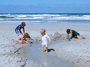 Zuid-Afrika met kids aan het strand