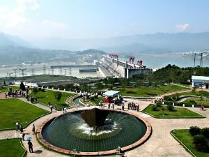 Blick auf den Drei Schluchten Staudamm