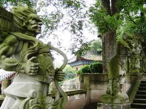 Ein Tempel in Fendgu
