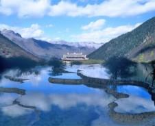 Glitzernde Seenlandschaft