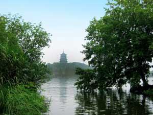 Blick auf den Westsee Hangzhou