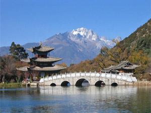 Malerische Landschaft bei Lijiang