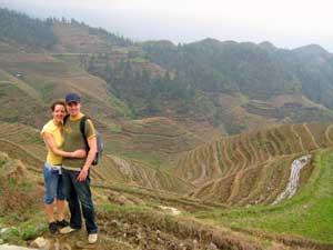 Pärchen vor den Reisterrassen