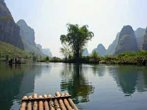 Karstberge am Yulong Fluß