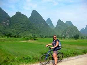 Auf dem Weg zum Moon Hill bei Yangshuo