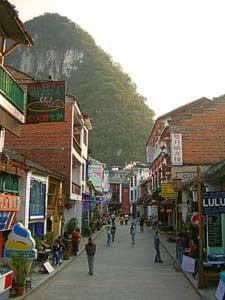 Die Innenstadt von Yangshuo