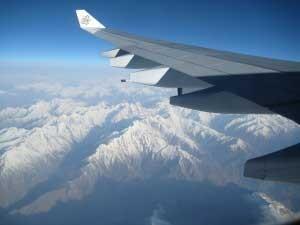 bequeme Inlandsflüge mit tollem Ausblick
