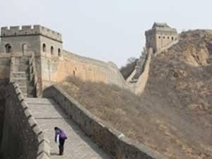 Die chinesische Mauer in der Nähe von Beijing